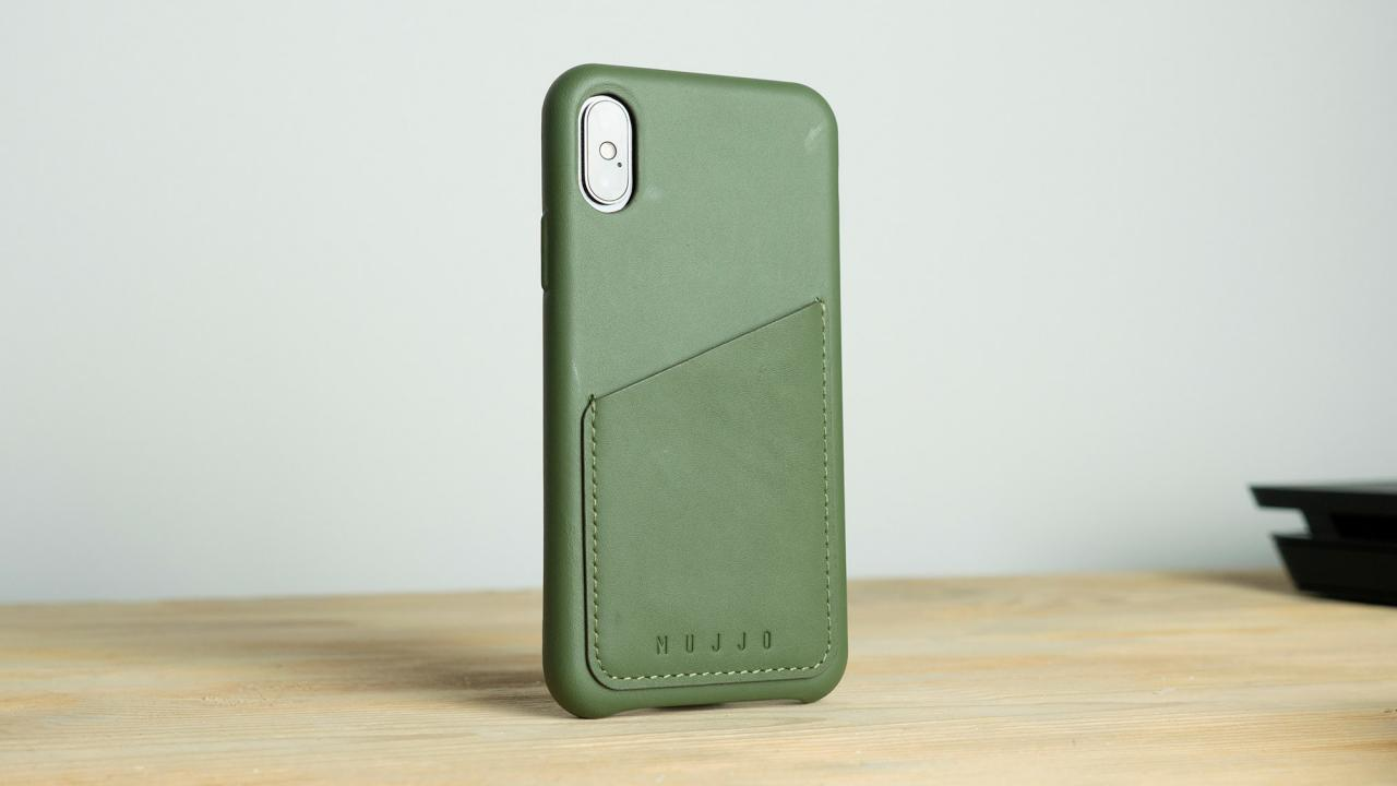 Mujjo Leather iPhone X Case